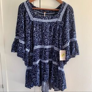 Free People   Boho Top in Midnight Color